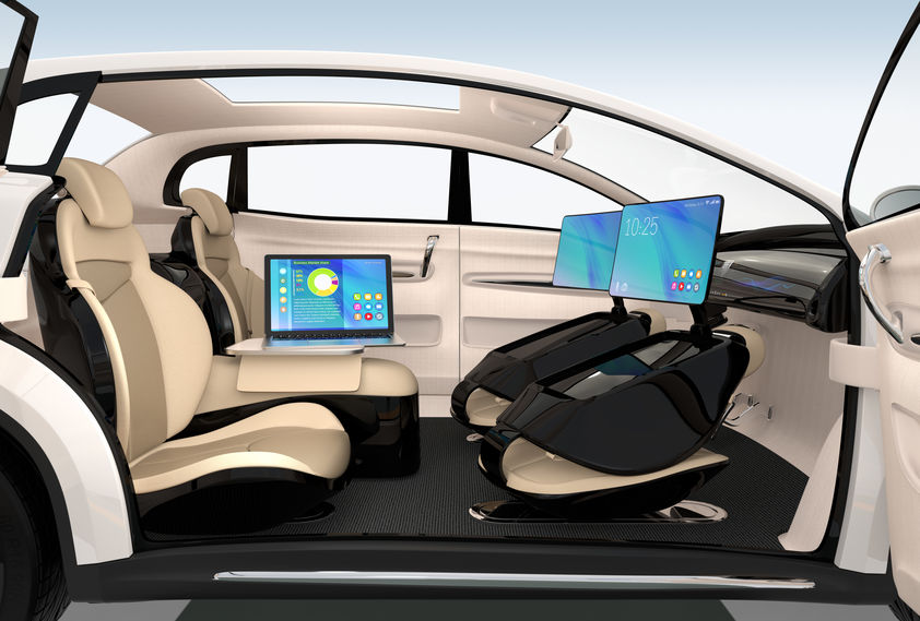 Autonomous Car Interior Design Concept