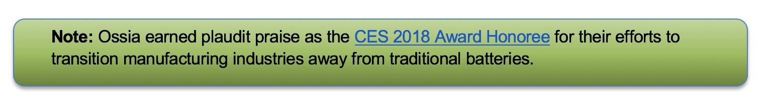 CES 2018 Award Honoree