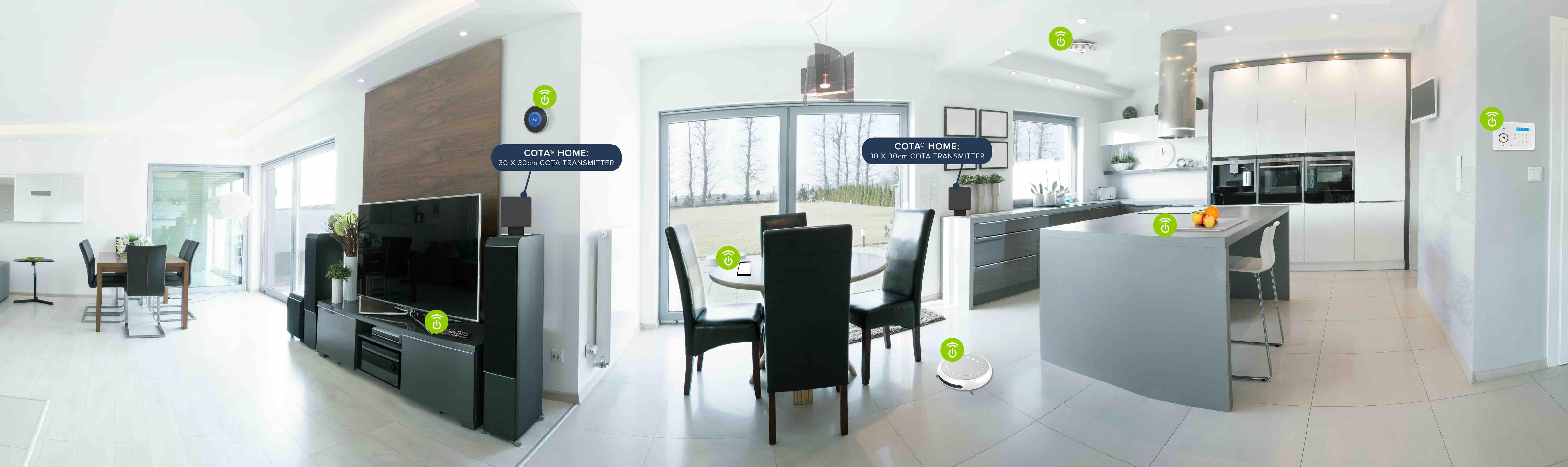 Cota Home Transmitter Livingroom Scene