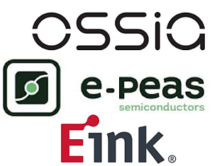 Ossia + e-peas & Eink Logos