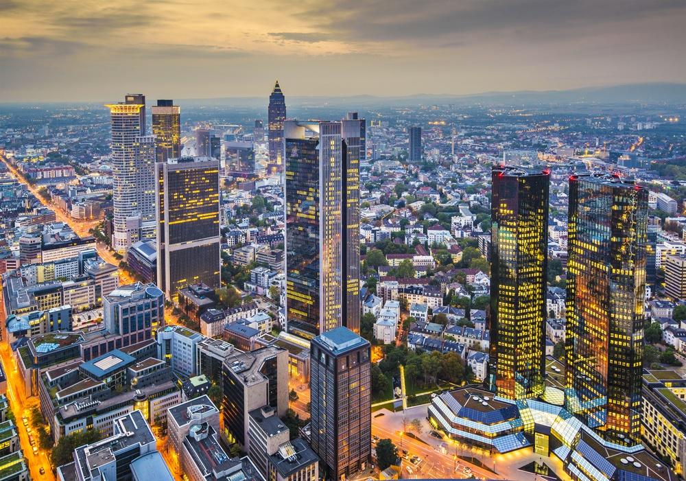 Frankfurt, Germany aerial view