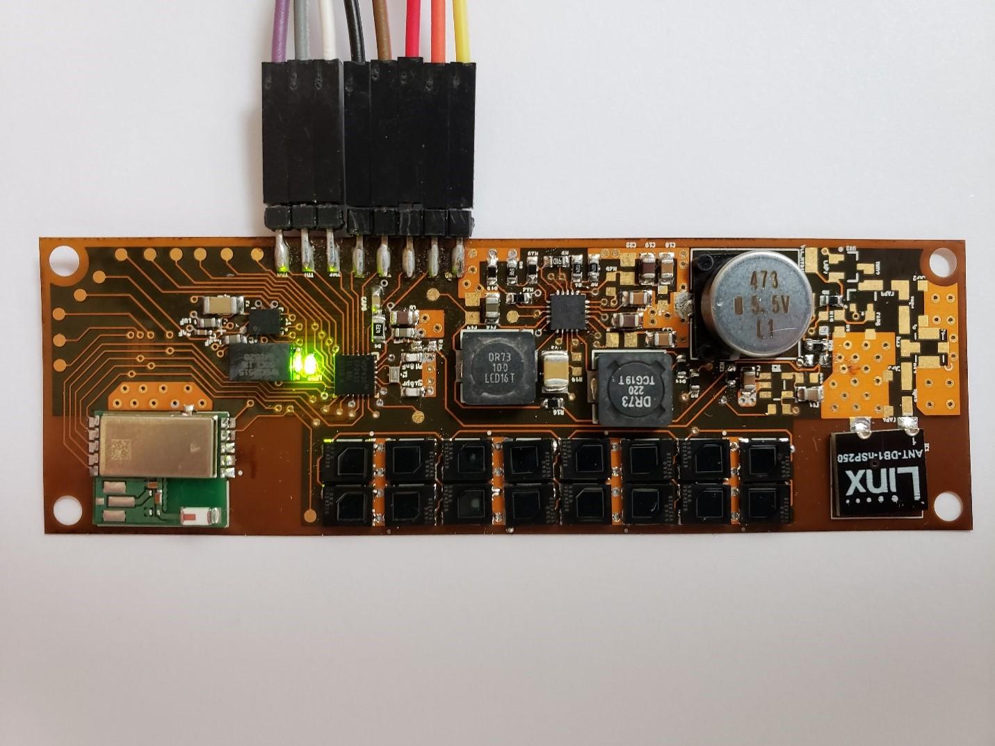 WSU Fig.3 Prototype of demo using flexible PCB